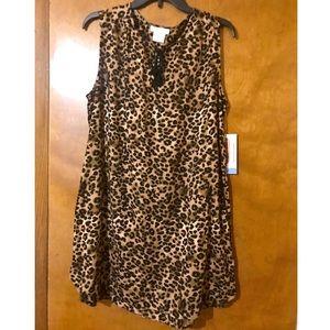 NWT beachlounge brand leopard print dress